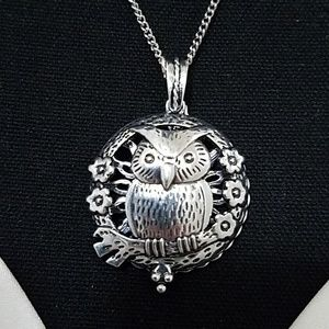 Jewelry - Owl Necklace With Hint of Lavender